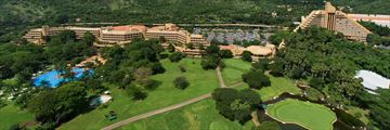 Aerial View of the Hotel and Grounds at The Cascades Hotel