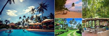 Cassia Cottage, Pool, Beach, Gardens, The Library and Walkway Through Gardens
