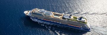 Celebrity Equinox aerial view at sea