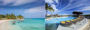 Centara Ras Fushi Resort & Spa, Beach, Pool and Pool Bar