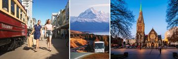 South Island Mountain Scenery & Christchurch Cityscapes