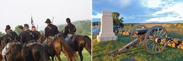 Civil War Reenactment & Monuments, Gettysburg