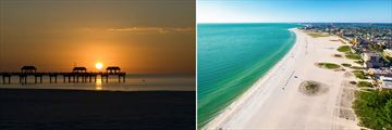 Clearwater sunset & beachfront