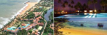Club Dolohin aerial, pool & golden beach