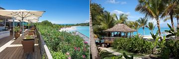 Cocobay Resort, Rafters Dining Terrace and Beach Bar and Second Infinity Pool