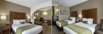 Comfort Inn & Suites, One King Bed Suite and Two Queen Beds Room