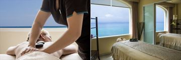 Cozumel Palace, Spa Hot Stone Therapy and Ocean Front Treatment Room