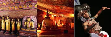 Dambulla caves and Kandy dancers