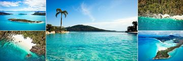 Daydream Island Resort & Spa, Aeriel Island View, Pool View, Western Shore, Whitehaven Beach and Lovers Cove