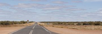 Desert road near Alice Springs