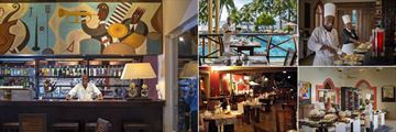 The Terrace Restaurant and Onda Beach Grill at Diamonds Dream of Africa