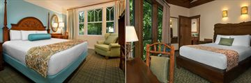 One Bedroom Villa Bedroom and Treehouse Bedroom at Disney's Saratoga Springs Resort & Spa