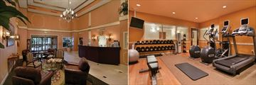 Lobby and Fitness Centre at DoubleTree Suites by Hilton Naples