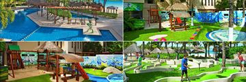 Dreams Puerto Aventuras Resort & Spa, (clockwise from top left): Infant Pool, Children's Explorer Club, Mini Golf and Explorers' Club
