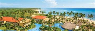 Aerial view of Dreams Palm Beach Punta Cana