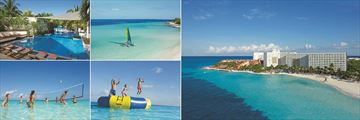Dreams Sands Cancun Resort & Spa, Infinity Pool, Hobie Cat, Aerial View of Resort, Ocean Trampoline and Water Volleyball