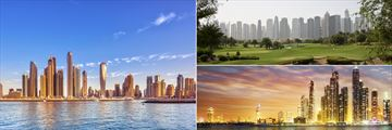 Dubai Skyline, Golf Course & Marina
