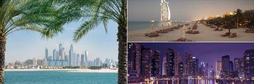Dubai's city and beach landscapes