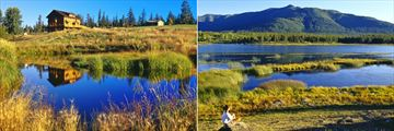 Trout Pond with Lookout Lodge and Marshland Hike at Echo Valley Ranch & Spa