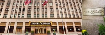Edison Hotel, Exterior and Sign