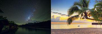 Elephant Hills Starry Night and a sun-kissed Khao Lak Beach
