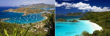 English Harbour and Nelson's Dockyard Antigua & Pristine island landscapes in the British Virgin Islands