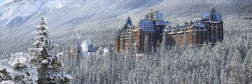 Fairmont Banff Springs, Exterior in Winter