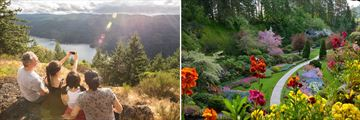 Family Hike to Sooke Mountain Peak & Butchart Gardens in Victoria City
