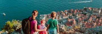 Family overlooking Dubrovnik