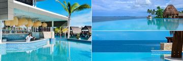 Lagoon House & Bar, Sunset Outdoor Pool for Adults Only and Champagne Horizon Pool at Fiji Marriott Resort Momi Bay
