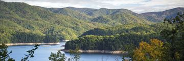Fontana Lake and the Appalachian trail, North Carolina