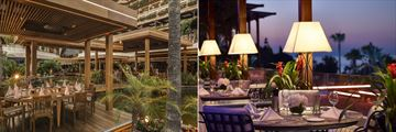 Tropical Restaurant and Vivaldi Terrace at Four Seasons, Cyprus