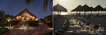 The reception and Gold Restaurant at Gold Zanzibar Beach House & Spa