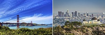 Golden Gate Bridge, San Francisco & Griffith Park Observatory, Los Angeles