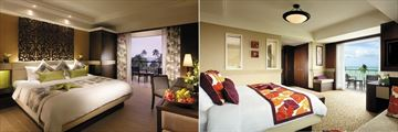 Golden Sands Resort by Shangri-La, The Deluxe Room and the Executive Seaview Suite