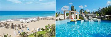 The beach and garden pool at Grecotel Creta Palace