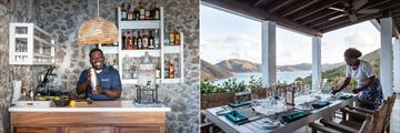 The Club and Guana Restaurant at Guana Island