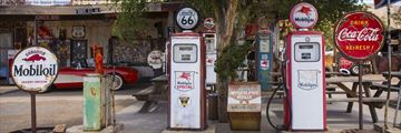 Hackberry fuel pumps in Arizona, along Route 66