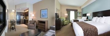 Hawthorn Suites Lake Buena Vista, Suite Kitchen & Lounge and One Bedroom Suite with Two Queen Beds