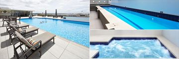 Heritage Auckland, Rooftop Pool, Indoor Lap Pool Tower Wing and Indoor Jacuzzi Tower Wing
