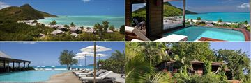 Beach and Pool Views at Hermitage Bay Hotel