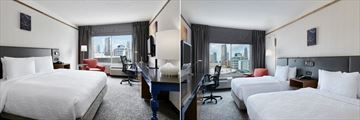 King Room and Double Queen Room at Hilton Garden Inn Charlotte Uptown