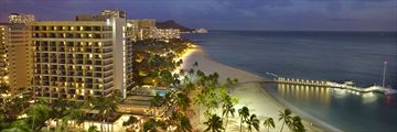 Alli Towers at Dusk at Hilton Hawaiian Village Waikiki Beach Resort