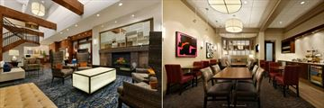 Lobby and Honors Concierge Lounge at Hilton Knoxville