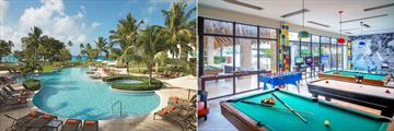 The main pool and teens club at Hilton La Romana Resort & Spa