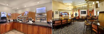 Breakfast Buffet Area and Dining Area at Holiday Inn Express & Suites - Old Town