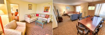 Junior Suite and Suite Living Areas at Holiday Inn Tampa Westshore