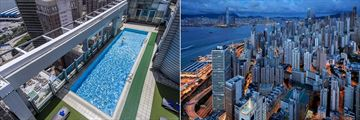 Hotel Jen Hong Kong, Roof Top Pool and View of Hong Kong