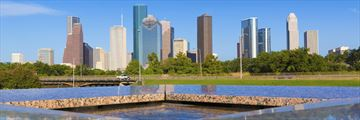 Houston skyline and memorial, Texas