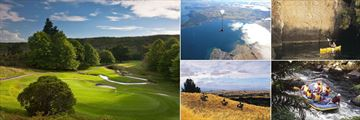 Huka Lodge, Activities - Golf, Sky Diving, Kayaking, River Rafting and Horse Riding
